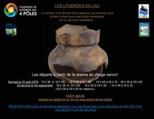 Affiche verso - Légendes du Lac-des-Seize-Îles