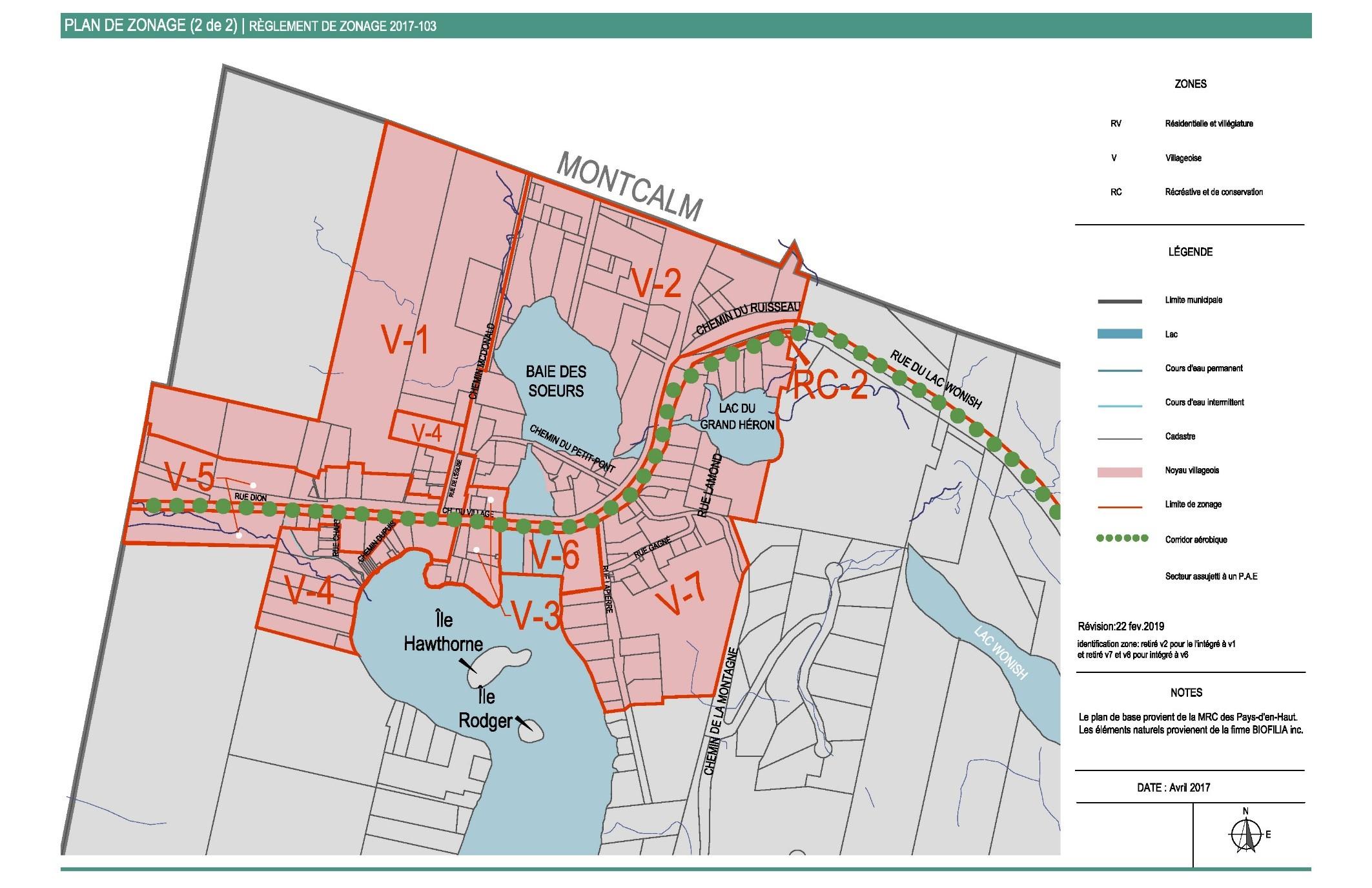 Plan de zonage Lac-des-Seize-Îles - 2 de 2